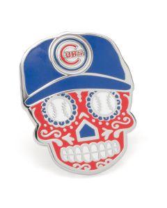 Chicago Cubs Sugar Skull Lapel Pin