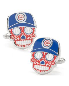 Chicago Cubs Sugar Skull Cufflinks