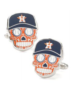 Houston Astros Sugar Skull Cufflinks