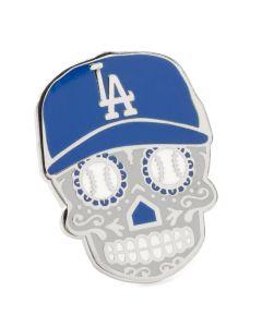 LA Dodgers Sugar Skull Lapel Pin
