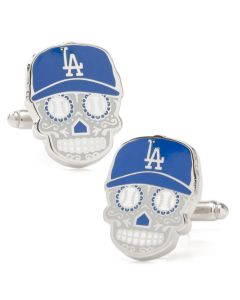 LA Dodgers Sugar Skull Cufflinks