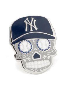 New York Yankees Sugar Skull Lapel Pin