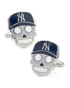 New York Yankees Sugar Skull Cufflinks