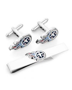Tennessee Titans Cufflinks and Tie Bar Gift Set