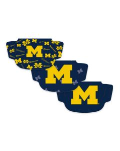 University of Michigan 3 Pack Face Masks