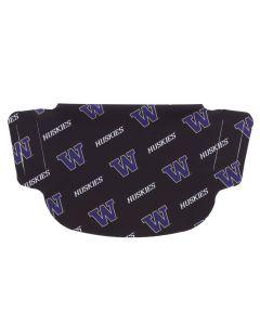 University of Washington Black Stripe Face Mask