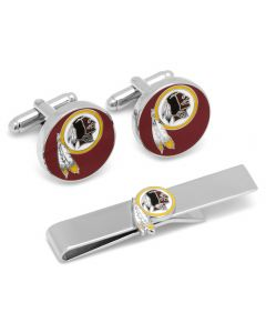 Washington Redskins Cufflinks and Tie Bar Gift Set