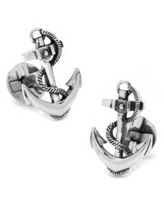 Sterling Silver Boat Anchor Cufflinks