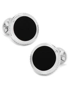 Round Onyx Opus Cufflinks