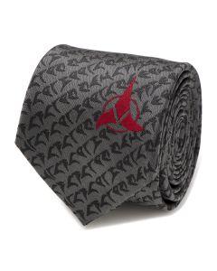 Klingon Gray Men's Tie