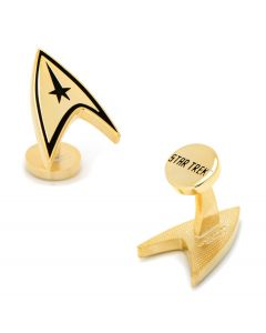 Gold Plated Delta Shield Cufflinks