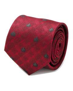 TNG Red Delta Shield Men's Tie