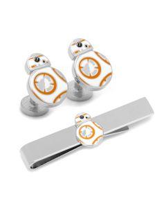 BB8 Cufflinks and Tie Bar Gift Set