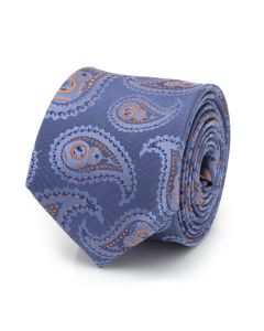 BB-8 Paisley Blue Silk Boy's Tie