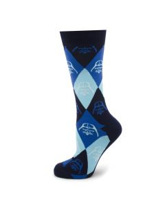 Darth Vader Argyle Blue Socks
