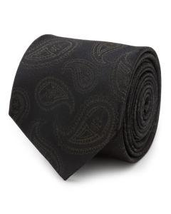 Darth Vader Paisley Black Silk Men's Tie