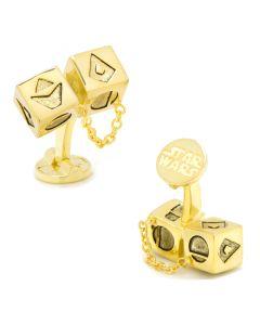 Solo Gold Dice 3D Cufflinks