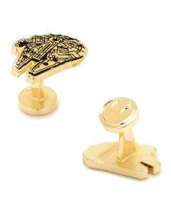 Gold Plated Millennium Falcon Cufflinks