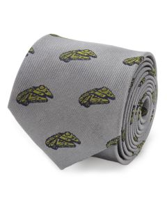 Millennium Falcon Gray Men's Tie
