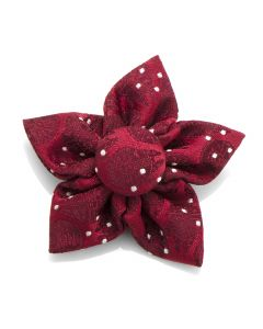 Maroon Millennium Falcon Dot Star Lapel Flower