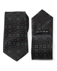 Mandalorian Motif Black Men's Tie