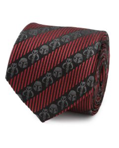 Mandalorian Black Red Stripe Men's Tie