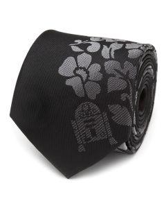R2D2 Floral Black Men's Tie