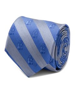 R2D2 Blue and Grey Stripe Men's Tie