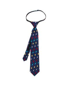 R2D2 Striped Boys' Zipper Silk Tie