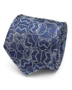 Stormtrooper Blue Pattern Men's Tie
