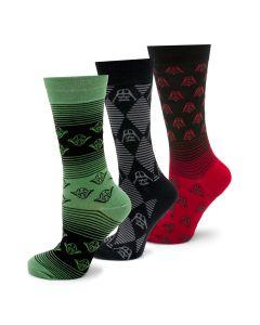 Star Wars Striped 3 Pair Socks Gift Set