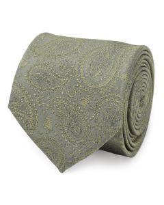 Yoda Paisley Sage Green Silk Men's Tie