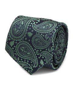Yoda Green Paisley Mens Tie