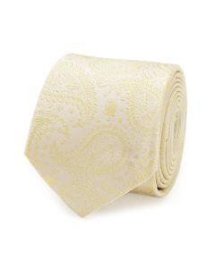Yoda Paisley Yellow Silk Boy's Tie