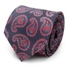 Red and Blue Superman Paisley Tie