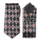 Alice in Wonderland Gray Men's Tie