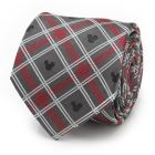 Mickey Mouse Holiday Plaid Gray Silk Men's Tie