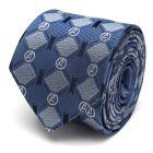 Avengers Argyle Blue Tie