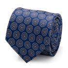 Captain America Shield Blue Men's Tie
