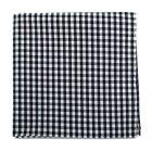 Black and White Gingham Cotton Pocket Square