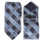 Star Wars Mando Helmet Check Blue Mens Tie